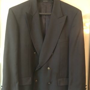 Yves Saint Laurent Double Breasted Suit Jacket